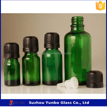 5ml - 50ml Round Empty Green Glass Vial Bottle Essential Oil Euro Dropper