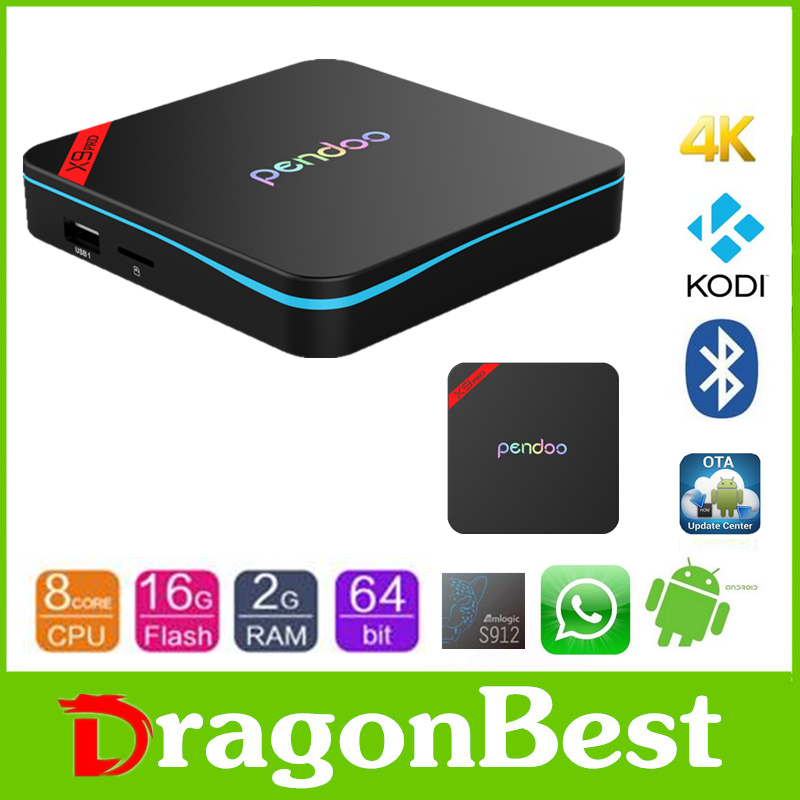 2016 New promotion Pendoo X9 Pro S912 2g 16g android octa core tablet dual wifi 2.4g / 5g wifi full hd kodi smart tv box