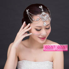 hair jewelry cheap fashion foreign trading crystal charming butterfly tiara