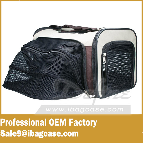 Travel Tote Soft Sided Bag Pet Carrier For Dogs & Cats