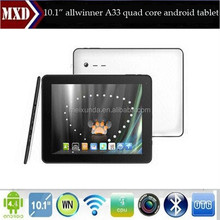 "10"" android 4.4.2 os allwinner a33 quad core android tablet development"