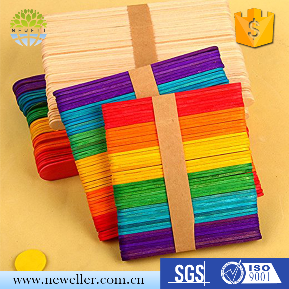 New arrival wooden birch art ice cream sticks for sale