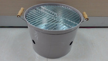 Indoor or outdoor galvanized metal Charcoal bbq grill bucket