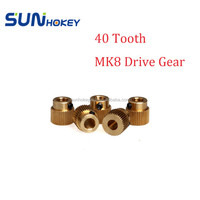 3D Printer Accessories MK8 Printer EXtruder Brass Gear 40 Tooth Extruder Filament Drive Gear