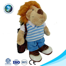 ASTM standard OEM Custom LOGO lion plush toy with suit Fashion Golf Sport Mascot Stuffed Soft Plush Lion Toy