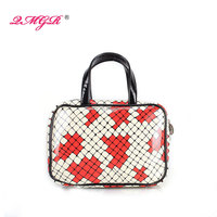 Wholesale Ladies Fashion Shiny PU tote cosmetic bag