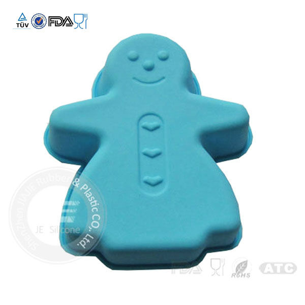 Wholesale funny design human shape colorful silicone cake /cookie mould