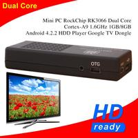 RK3066 1.6GHZ Dual Core Mini PC Android 4.2.2 Full HD 1080P 1G/8G TV Box Smart Mini Android PC
