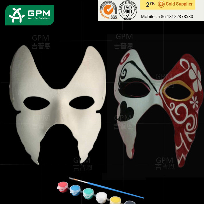 Trustworthy china supplier 3d party masks/diy craft works