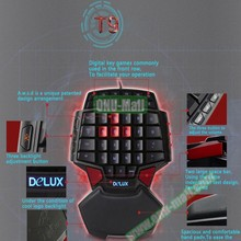 DELUX T9 USB Wired Electronic Gaming Mechanical Keyboard with 3 Modes Back Lights