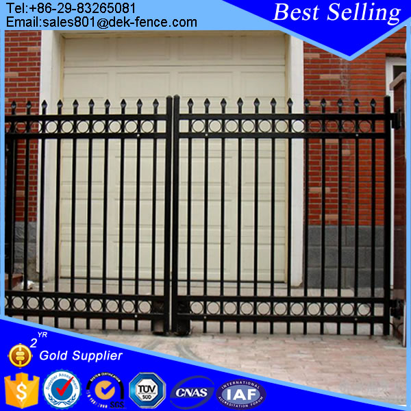 Dubai Cheap PVC Coated Galvanized Wrought Iron Fence Gate