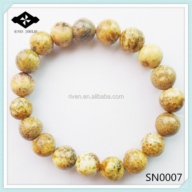 SN0007 Stretch 4mm 6mm 8mm 10mm Round Beads Natural Stone japer picture bracelet men.jpg