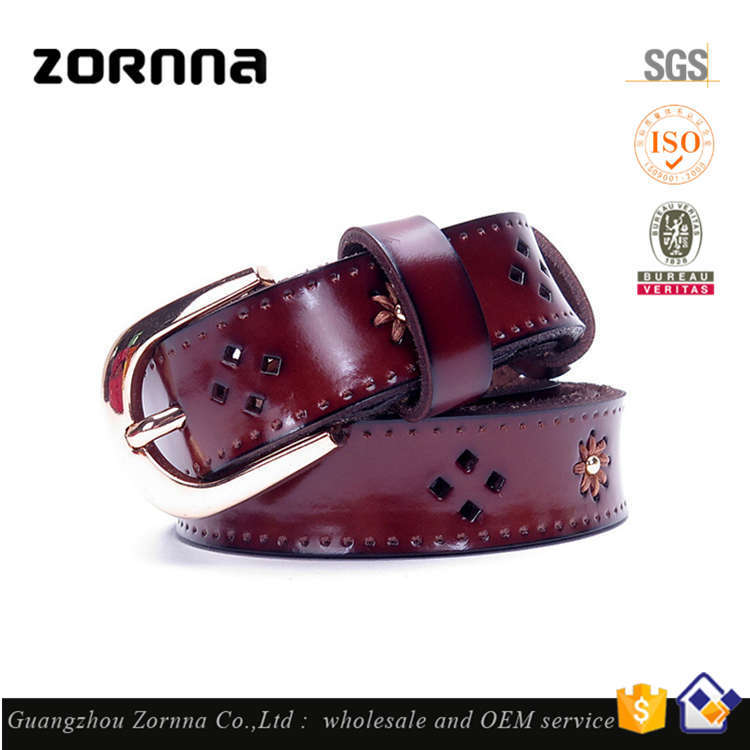 Innovative Product Fashion Famous Brnads Italian Women Cowhide Genuine Full Grain Leather Belt