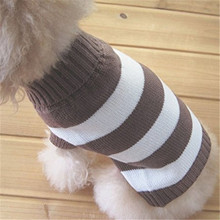 2017 Hot Fashion Stripes Pet Clothes Dog Wool Classic Sweaters