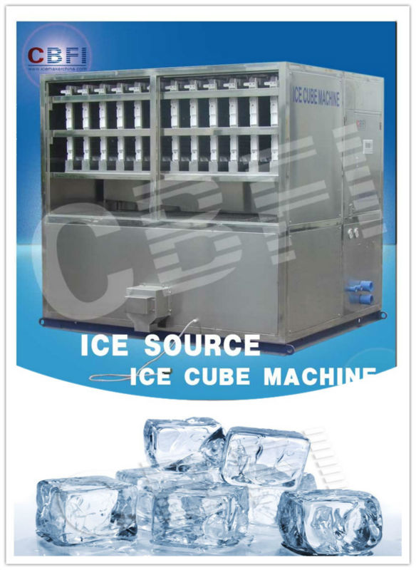 Egypt cube ice making machine for drinks and wines used in resorts, restaurants