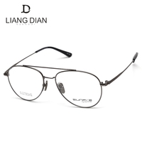 Hot selling CE certification fashion double bridge lightweight metal titanium eyeglasses frame