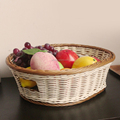 Plastic rattan basket vegetables basket for suppermarket and kitchen