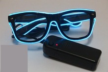 EL glasses Promotional fancy flashing EL glasses for teenagers Christmas decoration