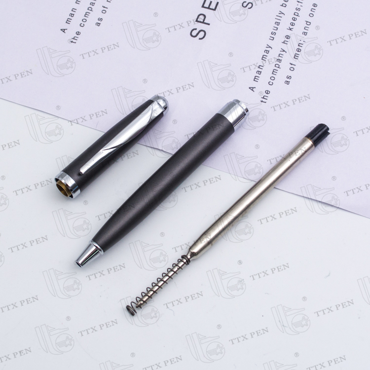 office decoration metal ballpoint pen 1.0,simple 1.0 ballpoint pen