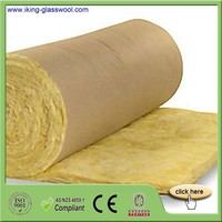 High Density 25mm Thick Glass Wool For Roll