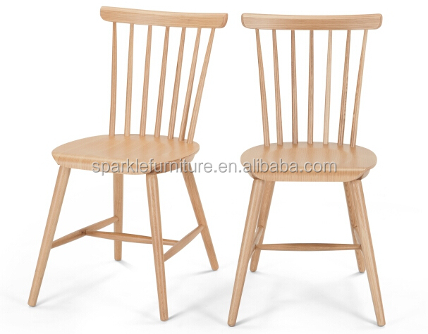 Modern solid wood dinning chair Windsor chair in restausrant