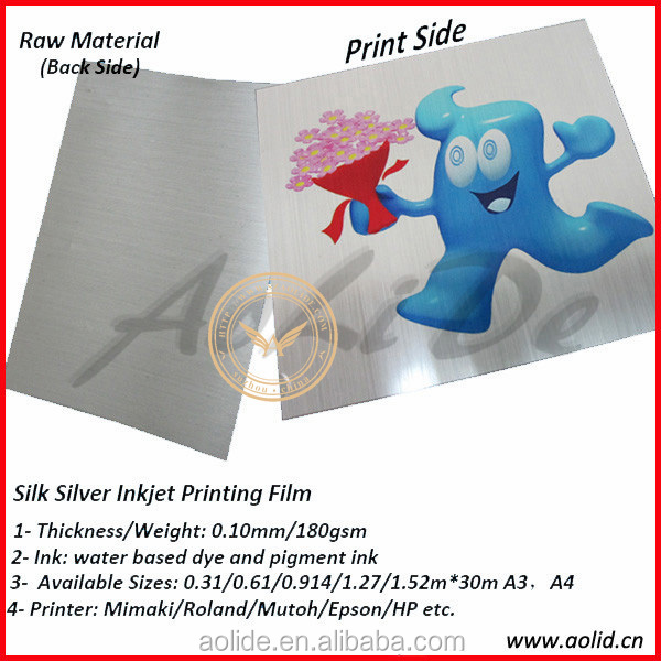 Silk Silver Photo Paper, Metallic Silver Inkjet Photo Paper,Inkjet Metallic Printing Film