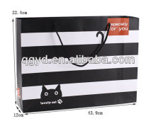 Fashionable hot stamping shopping paper bag
