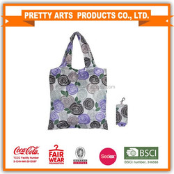 sublimation printing polyester foldable shopping bag