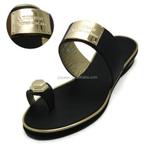 [HX-02] low price black Brands pu women slipper shoes fashion flat summer sandals 2016 for ladies