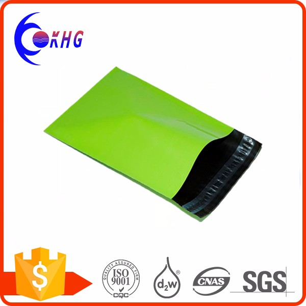 OEM customized gravure printing eco-friendly green color plastic poly mailer bag