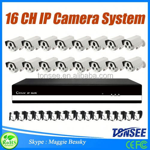 2016 new cctv camera 16 channel NVR Kit IP Camera system 16ch Standalone Dvr full hd 1080p cctv camera