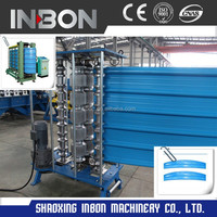 Roofing panel bullnosing curving machine