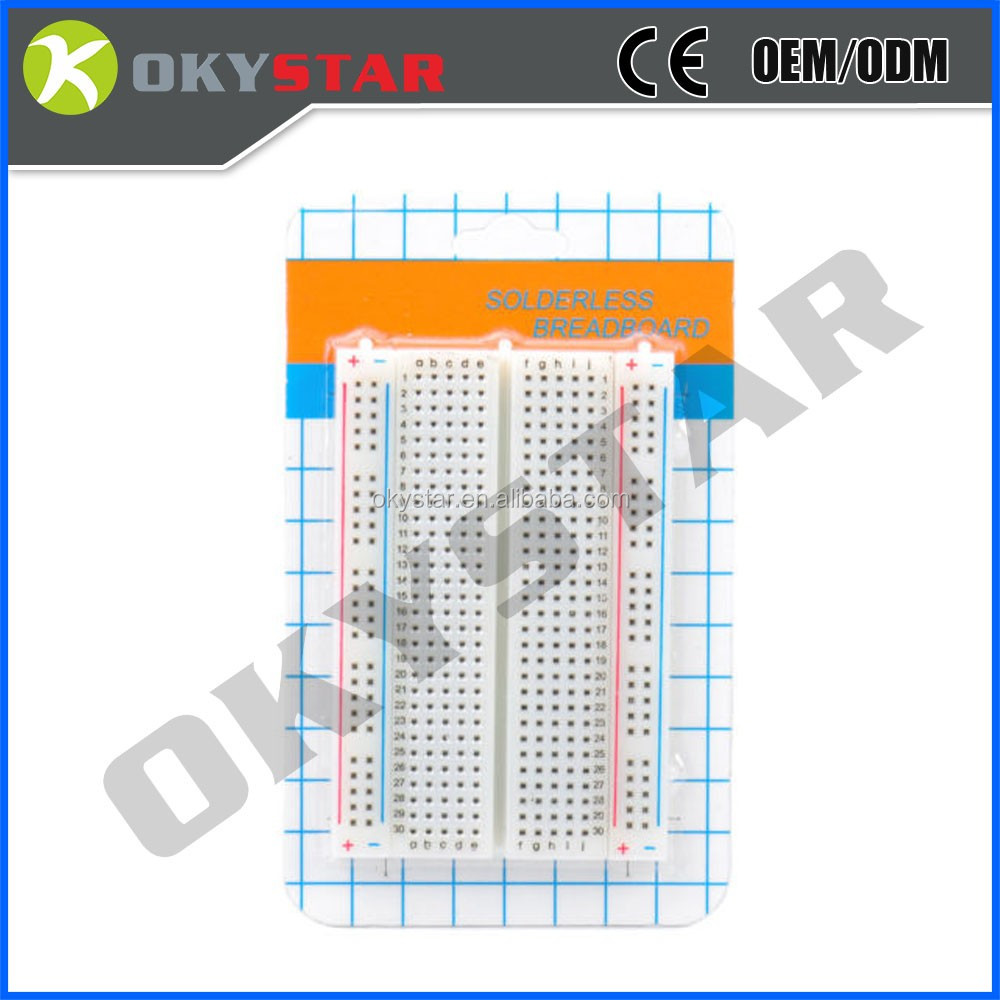 Mini Solderless Breadboard Non Transparent Material 400 Points Showing The Metal Strips For Tie 3