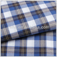 New china wholesale twill cheap tartan fabric of shirt material