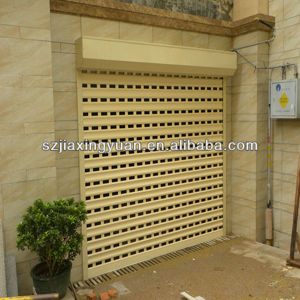 Residential perforated automatic aluminium roll up doors
