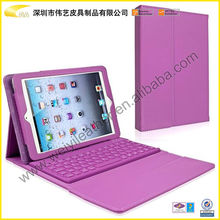 BST-PBS011 High Quality Purple Color Leather Keyboard 13 Inch Tablet pc Case For 7,8,9,9.7&10 inch Universal Tablet Case
