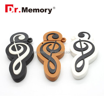 Musical note USB flash drive, cartoon musical note shape USB flash drive