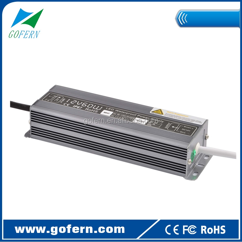 12V 5A Waterproof LED strip light power supply