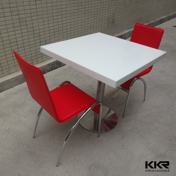 Resin dining table top acrylic kitchen table white for Lucite kitchen table