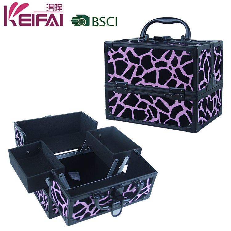 Wholesale Animal Print Makeup Cases With Compartments