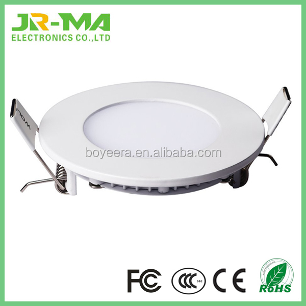 Factory price ultra thin round led panel light ce rohs list led down light smd2835 6W led ceiling panel light
