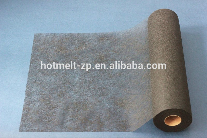 fusible interlining web in black color-PA web for fabric lamination
