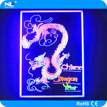 Eye catching LED glowing advertisement flash board / magic kids LED light writing board