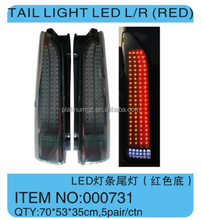 hiace super grandia Tail Light LED L/R (black) for toyota hiace 2005up