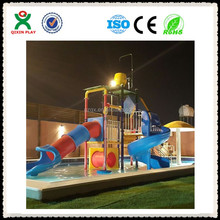 Hot sale swimming plastic water slide tube,pool plastic water slide tube