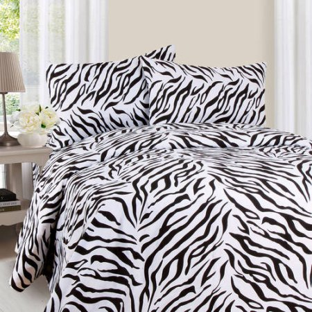 100% microfiber fleece fitted sheets 100% polyester bed set 100% polyester cheap fleece fitted sheet set Zebra