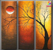 Customized framed canvas printing modern oil painting