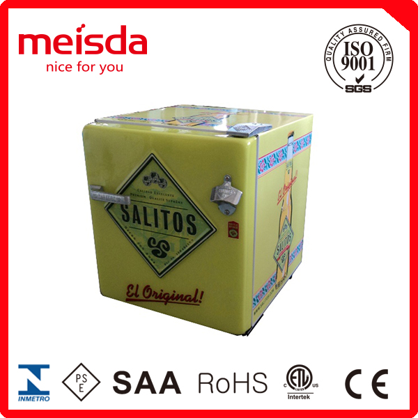 52L retro fridge , retro refrigerator,beer bottle cooler for hotel bar