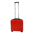 Abs Pc Carry-on Laptop Suitcase Luggage With Fixed Elastic Band On The Back