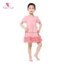 short sleeve pink wholesale clothing children frocks designs wedding dresses baby frock designs